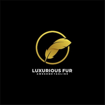 Luxurious fur with circle illustration.