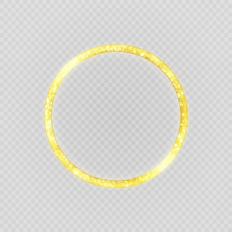 Роскошное золотое кольцо. круг.