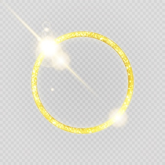Luxurious gold ring on transparent background