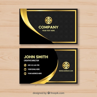 Luxurious golden business card