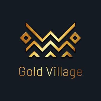 Lussuoso modello di logo dorato