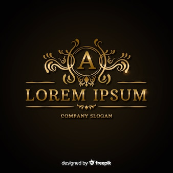Luxurious golden logo template