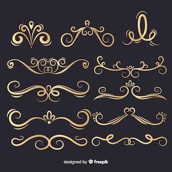 豪華な黄金の装飾品コレクション