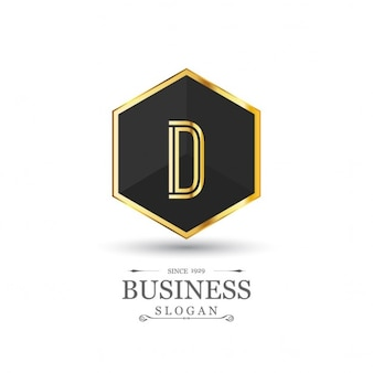 Luxurious hexagonal logo
