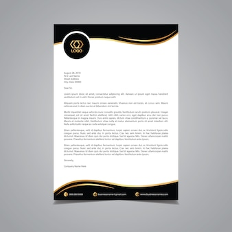 Luxurious letterhead template