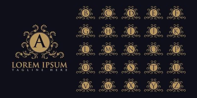 Luxurious letters logo set