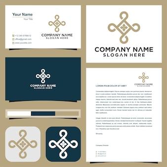 Luxurious logo design real estate premium