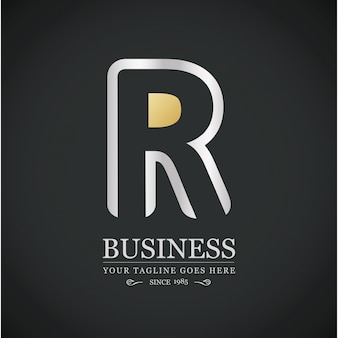 Luxurious logo with letter r