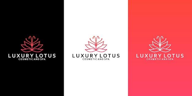 Роскошный дизайн логотипа лотоса для вашего бизнес-салона, спа, йоги