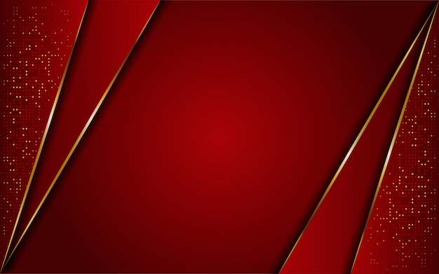 Luxurious modern abstract red and golden lines background. elegant modern background.