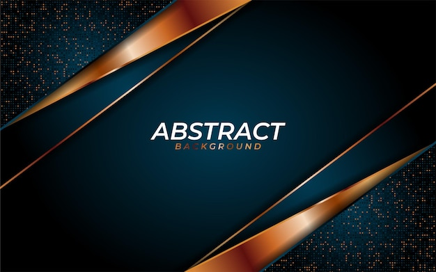 Luxurious navy blue background with dynamic texture and combine with geometric lines