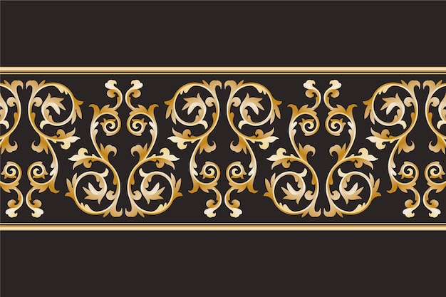 Luxurious ornamental border