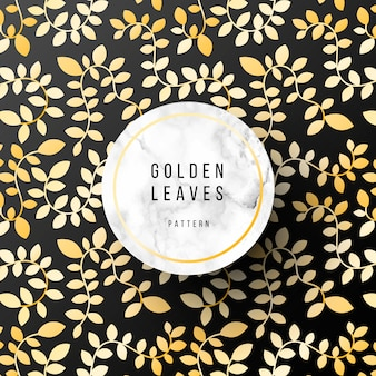 Luxurious pattern with golden leaves