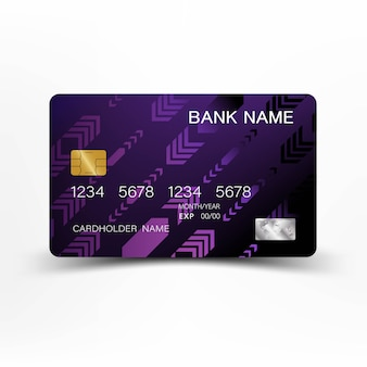 Luxurious purple credit card.