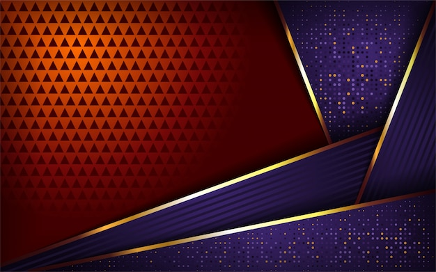 Luxurious purple and orange background