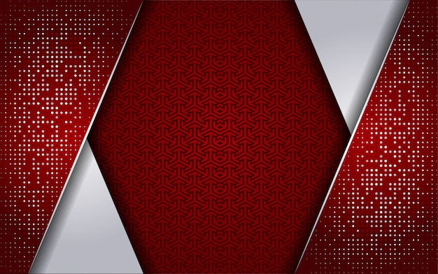 Luxurious red white with white dot background