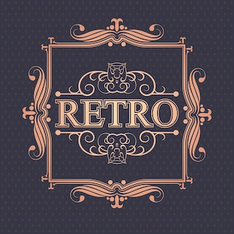 Luxurious retro border
