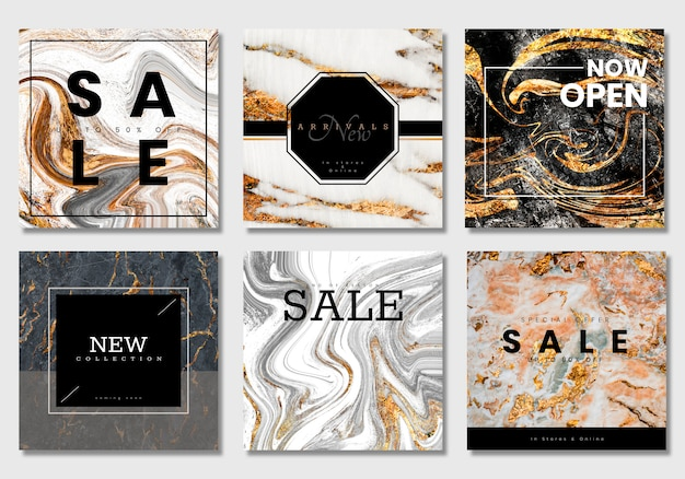 Luxurious sale banner collection vectors