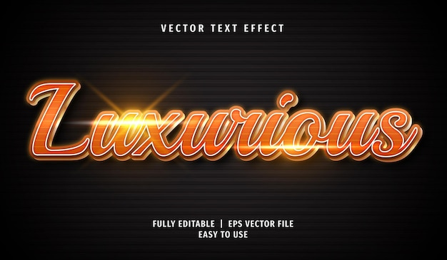 Luxurious text effect, editable text style