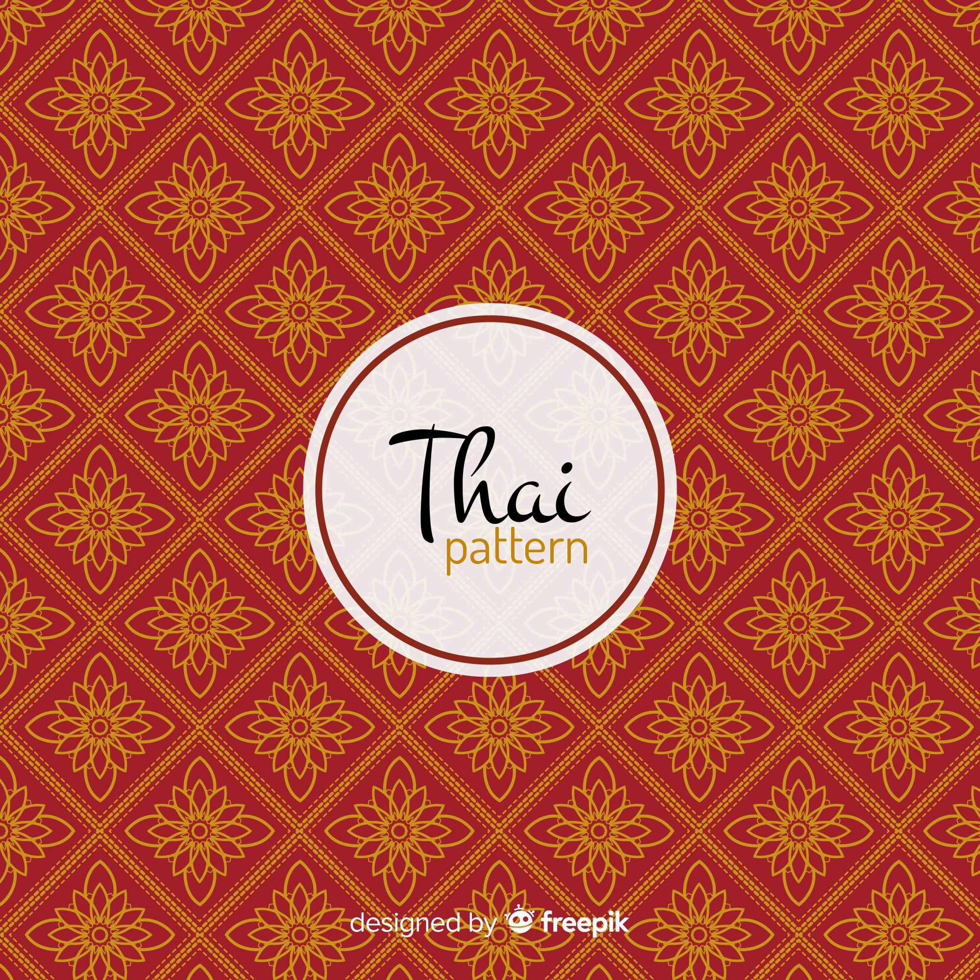 Luxurious thai pattern with golden style