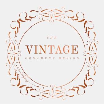 Luxurious vintage art nouveau badge vector