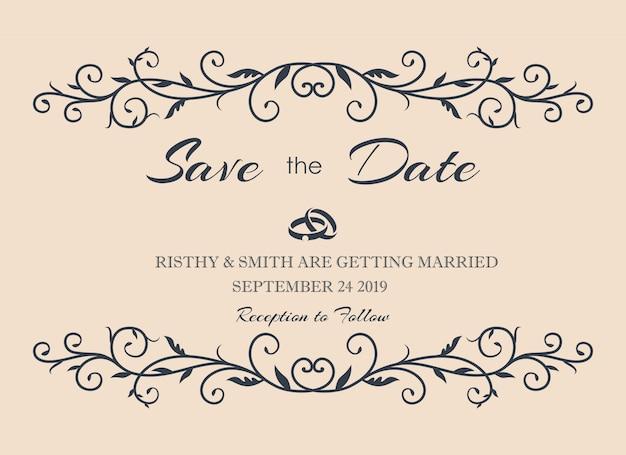Luxurious wedding invitation
