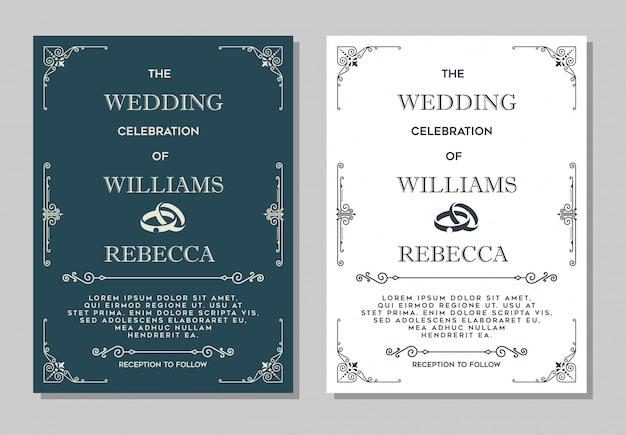 Luxurious wedding invitation