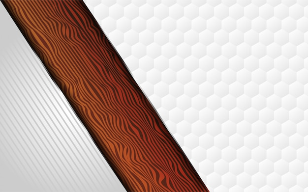 Luxurious white and wood texture background