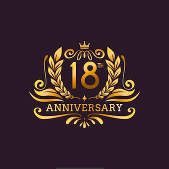 Luxury 18th anniversary logo