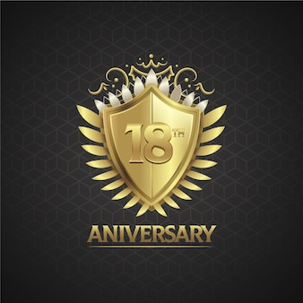 豪華な18周年記念ロゴ