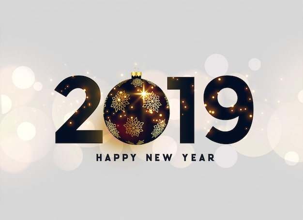 Luxury 2019 new year background
