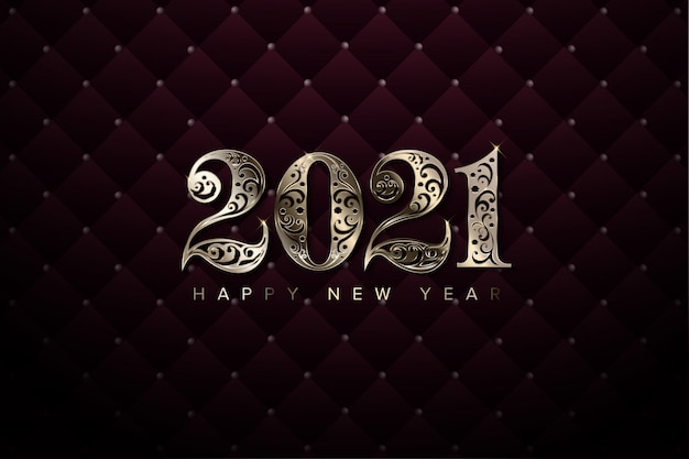 Luxury 2021 new year background