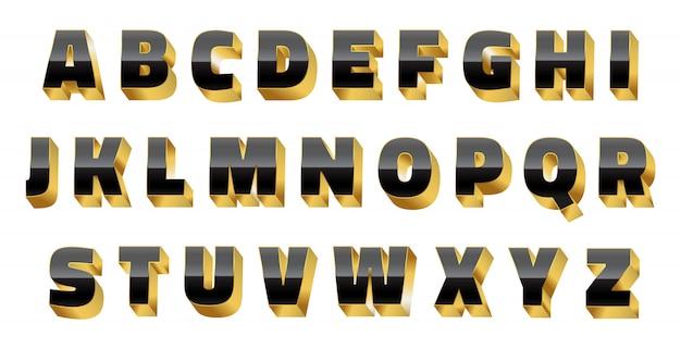 Luxury 3d alphabet