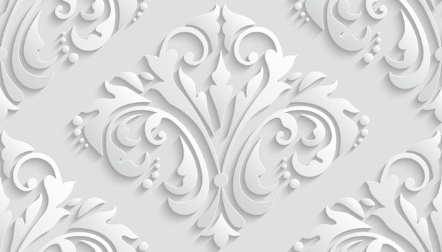 Luxury 3d damask pattern for wallpaper