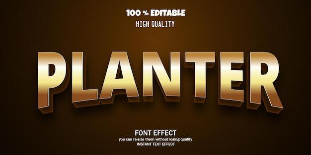 Luxury 3d font, editable font effect