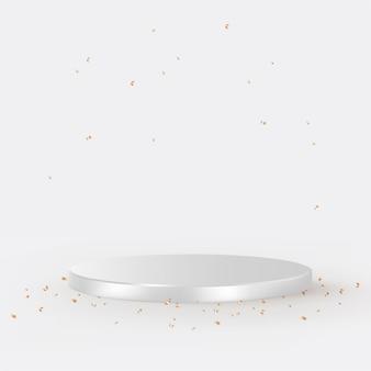 Vettore di sfondo del prodotto 3d di lusso in argento