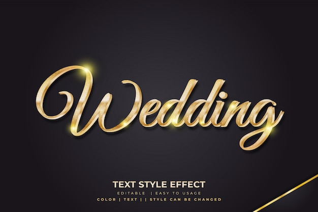 Luxury 3d text style effects with gold gradients