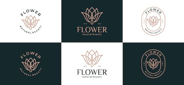 Роскошный абстрактный цветочный логотип