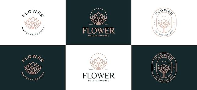 Luxury abstract flower leaf logo