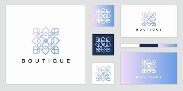 Роскошный абстрактный цветочный логотип и визитная карточка