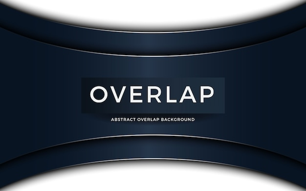 Luxury abstract overlap on dark blue background with shiny light effect