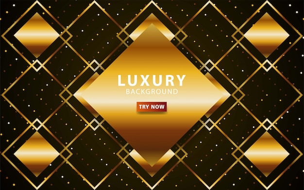 Luxury abstract premium gold  background with gold line