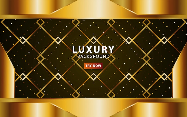 Luxury abstract premium gold  background with gold line.