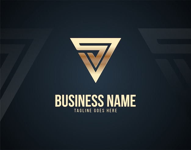 Luxury abstract v letter design logo template with gold color effects