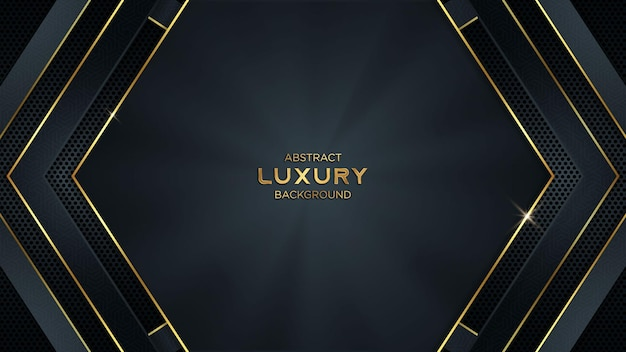 Luxury abstract vector gaming background with golden lines and copy space for text