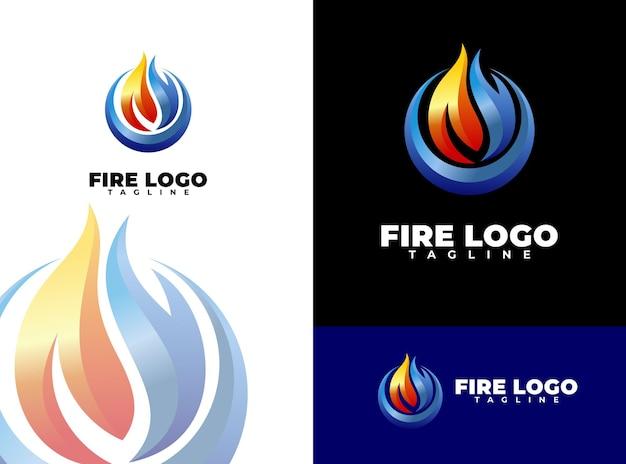 Роскошный и современный огонь логотип