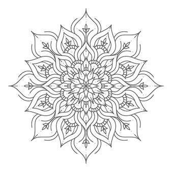 Роскошная и традиционная иллюстрация мандалы в стиле арт-линии