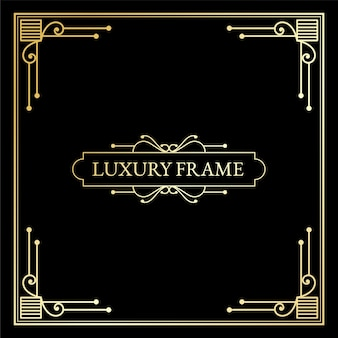 Luxury antique art deco elements big  golden borders frames corners dividers and headers