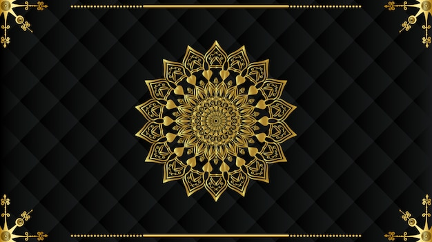 Luxury arabic mandala background design