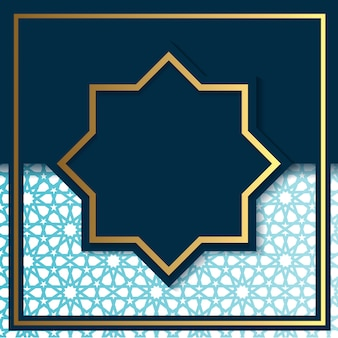 Luxury art deco blue and gold background template